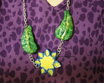 Sungoddess Floral Statement Pendant Necklace