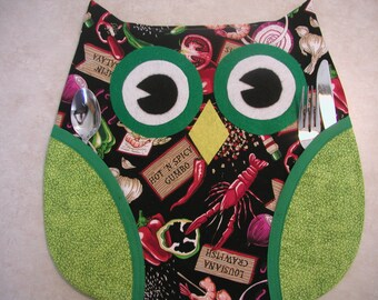 Who's Place, Owl Place Mats (1) Handmade By Me, So Cute.