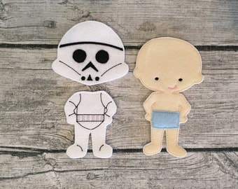 NonPaper Dolls Storm Trooper Inspired DOLL ONLY