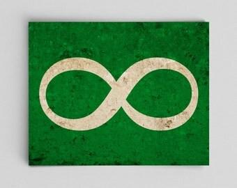 Infinity Symbol Print Math Physics Science Teacher Gifts for Teachers Green Science Art Math Gifts Classroom Posters for Math Classroom Art