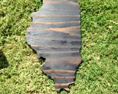 States Cut Out - Wall Hanging - Illinois