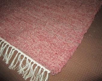 Mauve Sock Looper Rag Rug (052901)