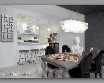"""Decor, Metal Wall Art, Kitchen Art, Abstract, Contemporary, Modern, Home Decor, Office Art, """"Marco 1"""""""