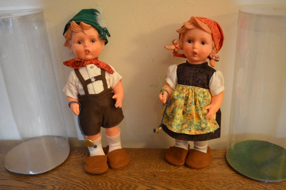 Signed Hummel Boy And Girl Vinyl Dolls 11 West