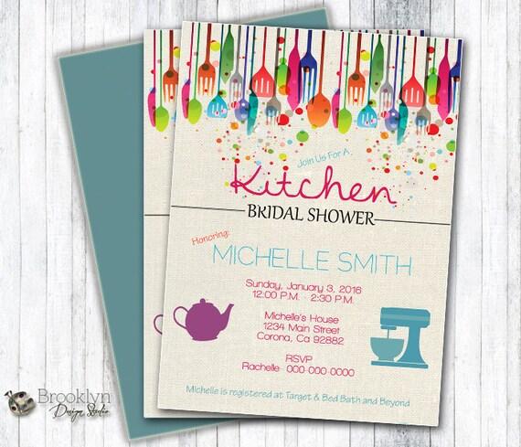 Kitchen Bridal Shower Invitation Custom Designed Digital