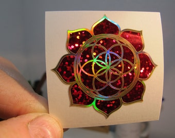 "Lotus Seed of Life Sticker, Special Editions,  2"" Size"