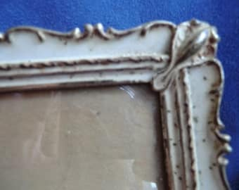 Painted Metal Picture Frame Vintage
