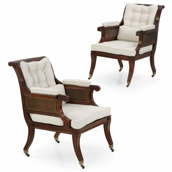Pair Of Baker Furniture Irish Regency Antique By