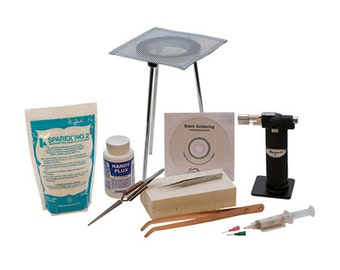 SOLDERING KiT without Pickle Pot, incl - DVD, soldering torch, tripod/screen, Sparex, Silver Solder - soldering tools, enameling, tools