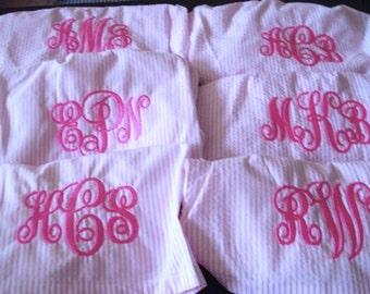 Bridemaids Gift, Monogram Boxer Shorts,PJ Sleep Shorts, Sorority Sisters Shorts//