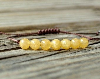 Golden Calcite Yoga Bracelet, Solar Plexus Chakra, Gemstone Therapy, Crystal Healing, Meditation Bracelet, Astral Projection, Memory Focus