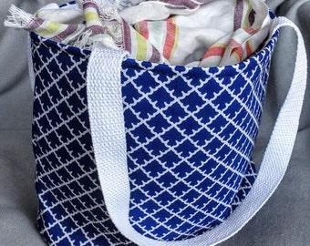 Blue Pattern Tote