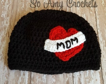 Crochet Mom Tattoo Hat Baby & Toddler