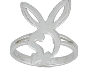 Bunny Playboy Ring .925 Sterling Silver