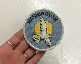 vintage 1980s NOS Washington state embroidered patch