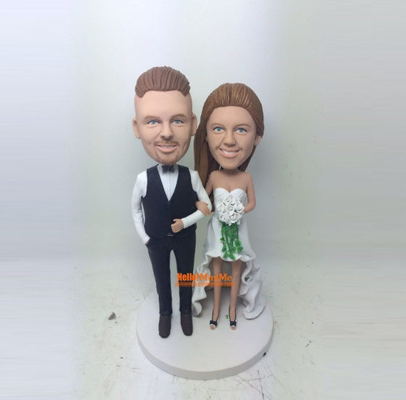 custom made cake topper bobble head custom cake topper wedding. Black Bedroom Furniture Sets. Home Design Ideas