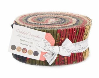 Delightful December Jelly Roll by Sandy Gervais for Moda