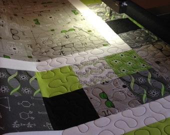 Custom Twin Quilt in Your Choice of Fabrics // Twin Size Quilt with Matching Pillow Sham // Gifts for Kids // Gifts for Teens