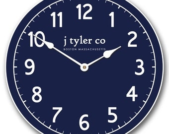 New Traditional Navy Wall Clock