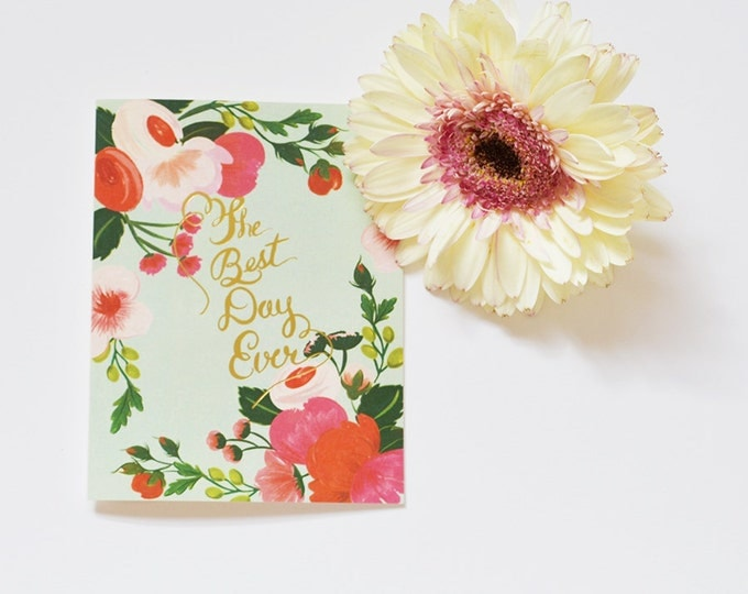 The Best Day Ever Bright Mint Card
