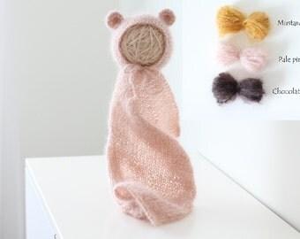 Newborn props - Newborn wrap - Baby girl hat - Baby girl set - Baby props - Newborn girl - Newborn set - Baby girl wrap - Wrap set - Props