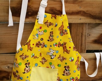 Child's Craft Apron, kitchen apron, 2 - 4 year old.
