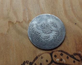 Medallion, silver medal, vintage, antique, silver pendant