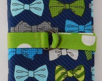 Circular Knitting Needle Case - Bowties and Green Polka-Dots