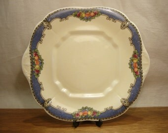 Vintage 1920s E Hughes Paladin China Somerset pattern cake plate or bread and butter plate