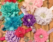 GRAB BAG set of 10- Baby Shower Gift -Surprise Headband Gift Set-Newborn Headbands-Baby girl Headband-Baby Headbands