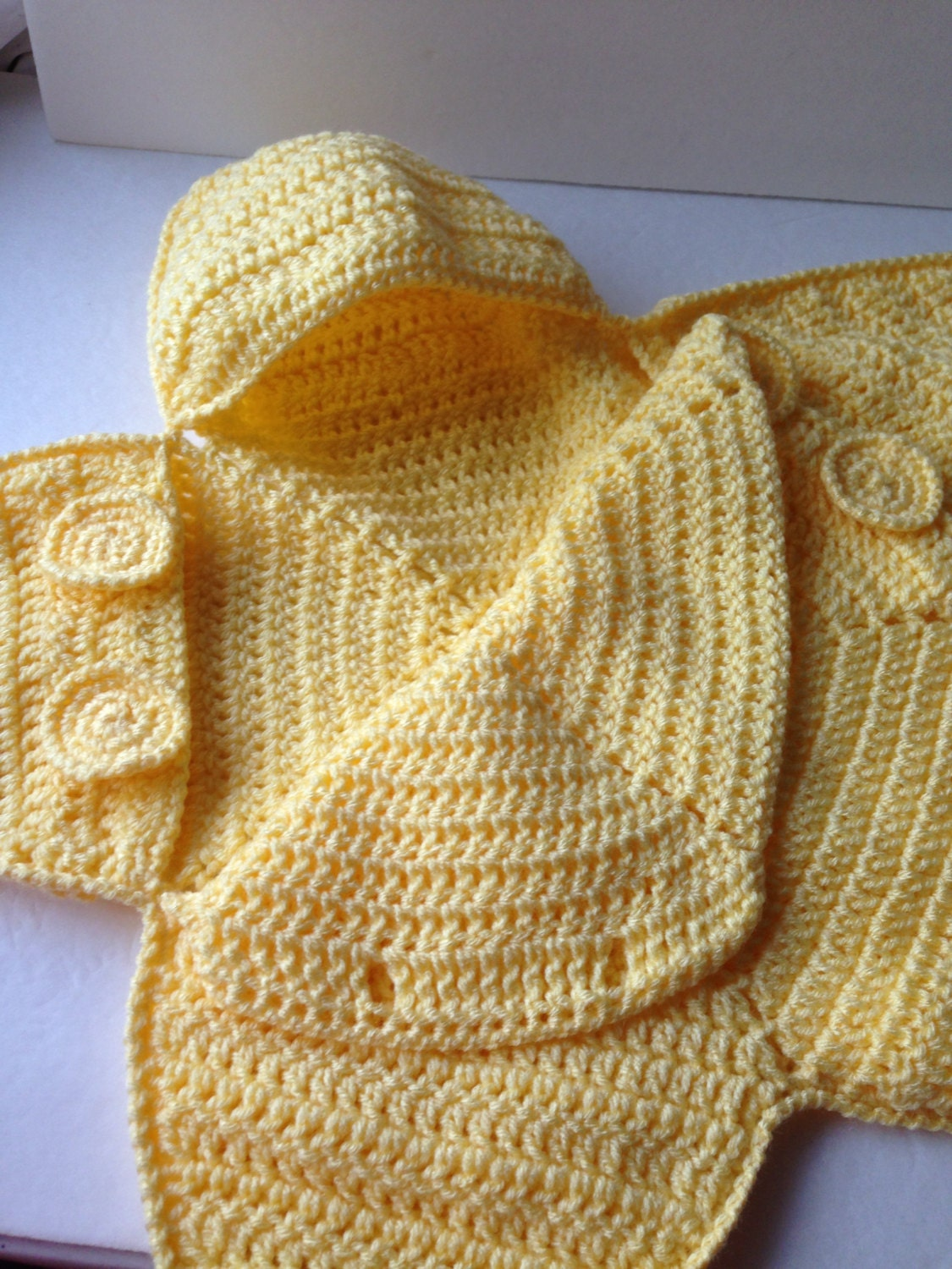Baby Bunting Bag Yellow Star Bunting Handmade Crochet