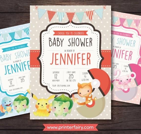 pokemon baby shower invitations cute pokemon printable invitations