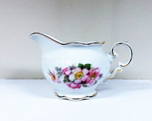 Golden Crown E & R Bavaria Schumann Germany Briar Rose Creamer