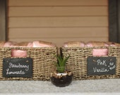 20 Small Cotton Candy Party Favors with Custom Label