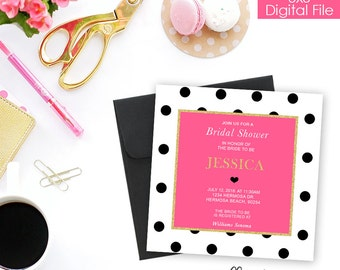 Bridal Shower Invitation-Dots