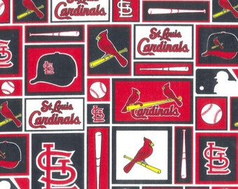 St. Louis Cardinals Fabric 100% Cotton - Sold by the Yard