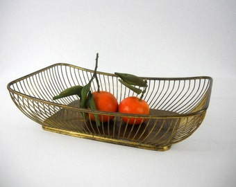 Midcentury Modern Gold Wire Bowl