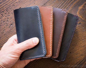 """BUILD-YOUR-OWN - iPhone 6 & 7 (4.7"""") cell phone wallet case in Horween leather"""