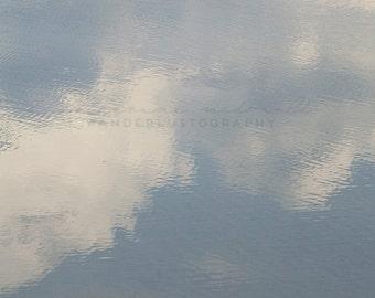 Coastal Photography, Vilano Beach Photograph, St Augustine print, Bohemian Art, Boho Style, Travel Photography, blue sky art, dreamy clouds