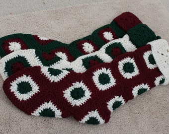 Christmas Stockings crochet granny squares