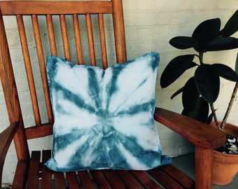 Hand-dyed, Tie-dye Decorative Pillow
