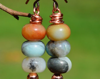 Amazonite Beaded Earrings