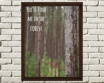 In The Forest Digital Art Print, PDF Instant Download