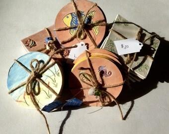 Clay Coasters (set of 4)