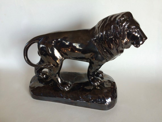 lion statue regal lion king of the jungle ceramic statue