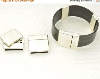 35% OFF 20MM Magnetic Clasp - Antique Silver -  For use with cord up to 20MM