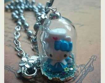 Cat Snowglobe Necklace