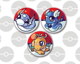 First Generation Dragon pokémon 38mm button, 1.5 inch badge