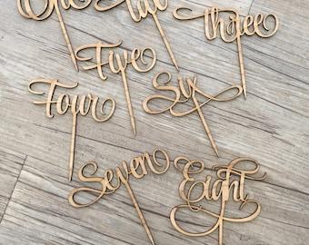 1x Laser Cut Wooden Letter Table Number