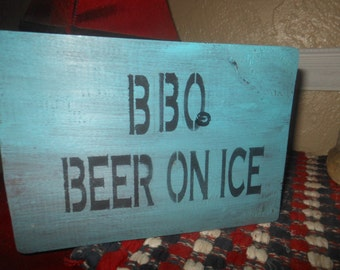 BBQ Beer On Ice With Stake